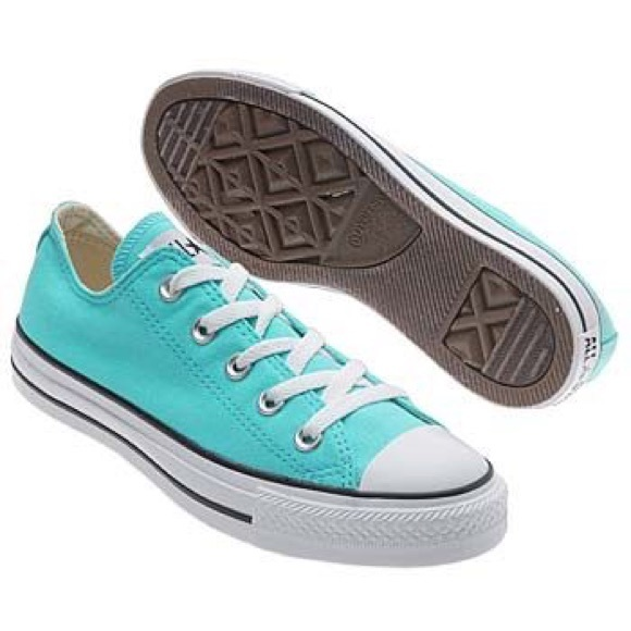 Converse Shoes   Low Top Turquoise